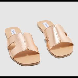 Steven Madden sandals slides Sz:7 summer rose gold